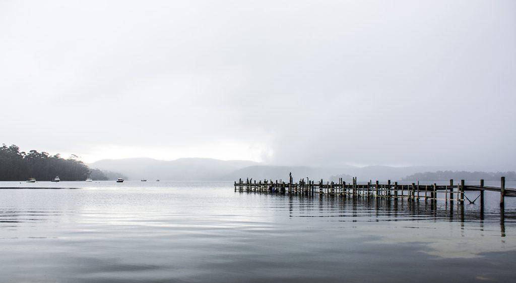 Misty morning at Port Arthur